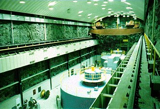 Morrow Point Dam - Morrow Point Powerplant interior