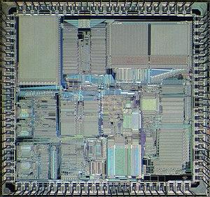 Motorola 56000 - Die of Motorola DSP56001.