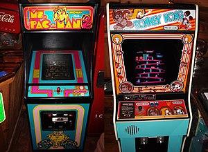 Pac-Man and Donkey Kong - arcade cabinets