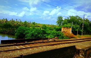 Munroturuttu railway station Railway station in Kerala, India