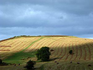 Libanus, Powys - Twyn y Gaer Iron Age hill fort at Mynydd Illtud near Libanus