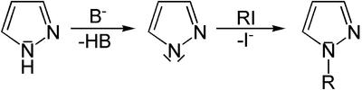Alkylierung von Pyrazol