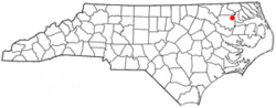 Location of Colerain, North Carolina