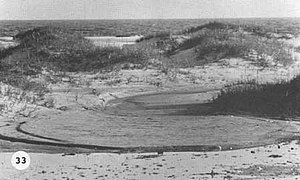Tropical Storm Doria - Beach erosion in North Carolina from Doria