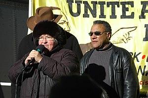 Larry Holmes (activist) - Holmes (right) with civil rights activist Lynne Stewart