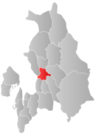 Locator map showing Skedsmo within Akershus