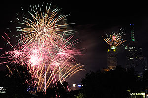 The 2008/2009 Melbourne fireworks display as s...