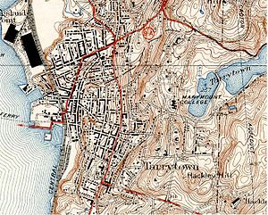 New York State Route 9A - Tarrytown, including US 9 and NY 9A, in 1938.
