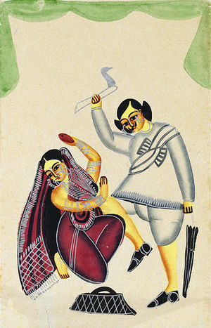"""A Kalighat image of the moment when the ..."