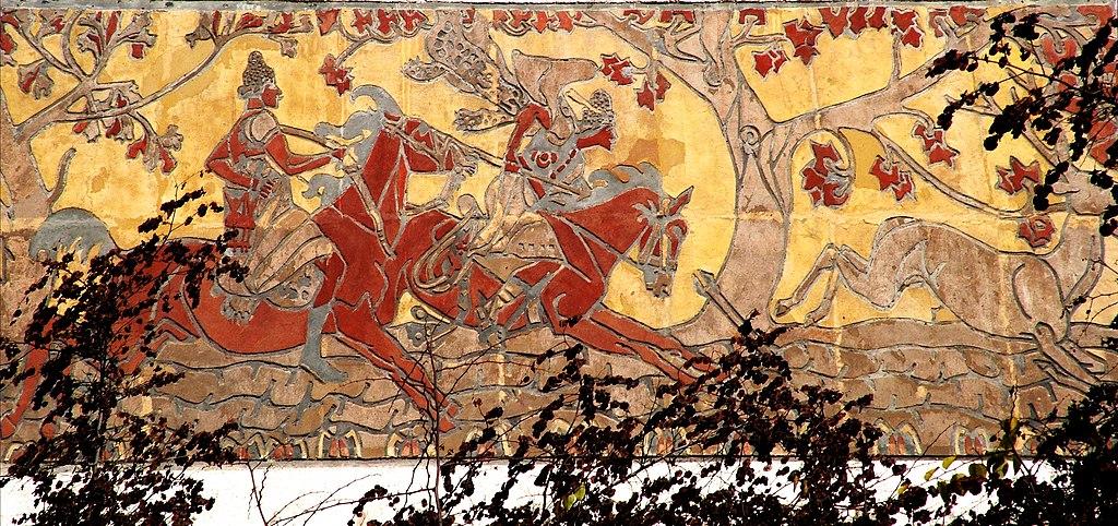 Nagy Sándor (1909): A Csodaszarvas üldözése (Pursuit of the Miraculous Stag)