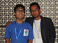 Nahid Sultan and Bengali Wikipedian at Bengali Wikipedia 10th Anniversay Gala Event in Dhaka by Mayeenul Islam.jpg