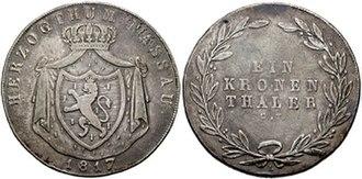Kronenthaler - Nassau Kronenthaler, 1817