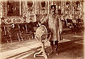 Nasser Ad-Din Shah Qajar in the Hall of Mirrors, the Golestan Palace.jpg
