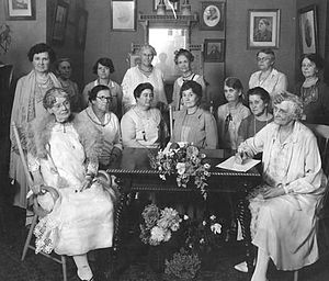 Woman's Christian Temperance Union - Women of the WCTU at a meeting, 1924