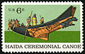 Natural History Haida Ceremonial Canoe 6c 1970 issue U.S. stamp.jpg