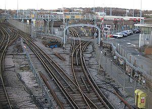 Neasden Depot - South end of Neasden Depot. Photo taken from Neasden station.