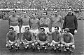 Nederland tegen Belgie 3-1, Nederlands elftal. Staand vlnr Schrijvers, Pijs, Fli, Bestanddeelnr 919-0403.jpg