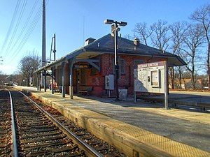 Needham Junction station from tracks HDR, March 2016.jpg