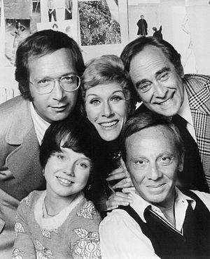 Needles and Pins (TV series) - The cast.  Bottom, from left: Deirdre Lenihan, Norman Fell.  Top, from left: Bernie Kopell, Sandra Deel, Louis Nye.