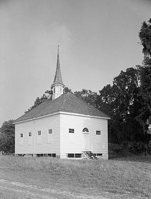 Black church - African American Baptist Church, Silver Hill Plantation, Georgetown County, South Carolina