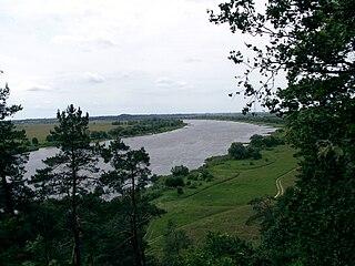 The river Nemunas from Rambynas hill