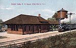 New Paltz station after its 1907 rebuild