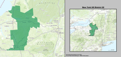 New York 's 22nd congressional district - since January 3, 2013.