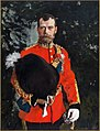 Nicholas II of Russia by V.Serov (1902, Royal Scots Dragoon Guards Museum).jpg