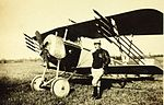 Nieuport 11 armed with Le Prieur rockets and an overwing Lewis gun.jpg