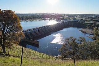 Nimbus Dam dam near Folsom, California, USA