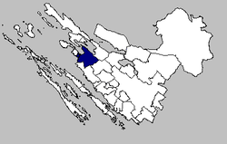 the Nin municipality within the Zadar County