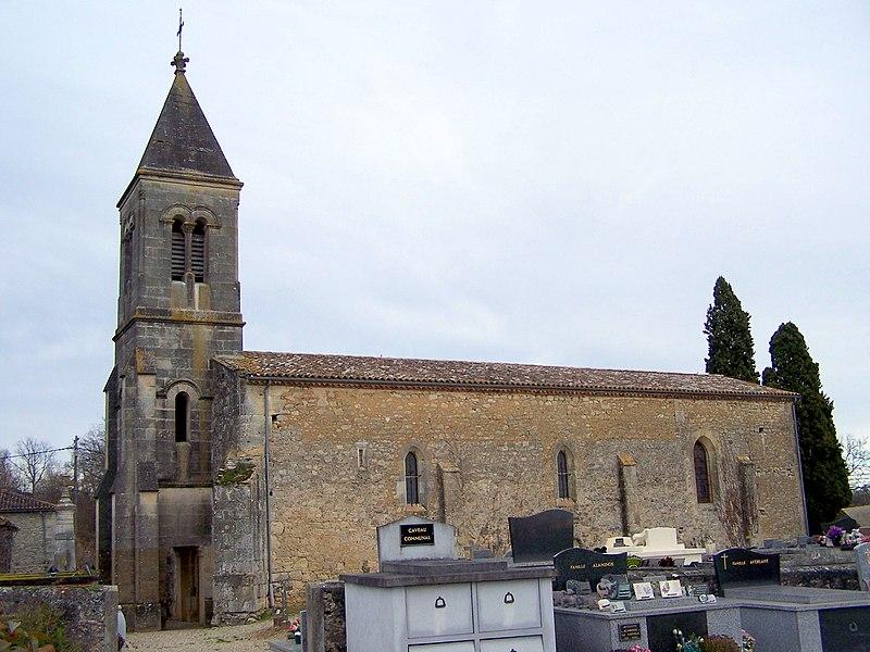 Church of Noaillac (Gironde, France)
