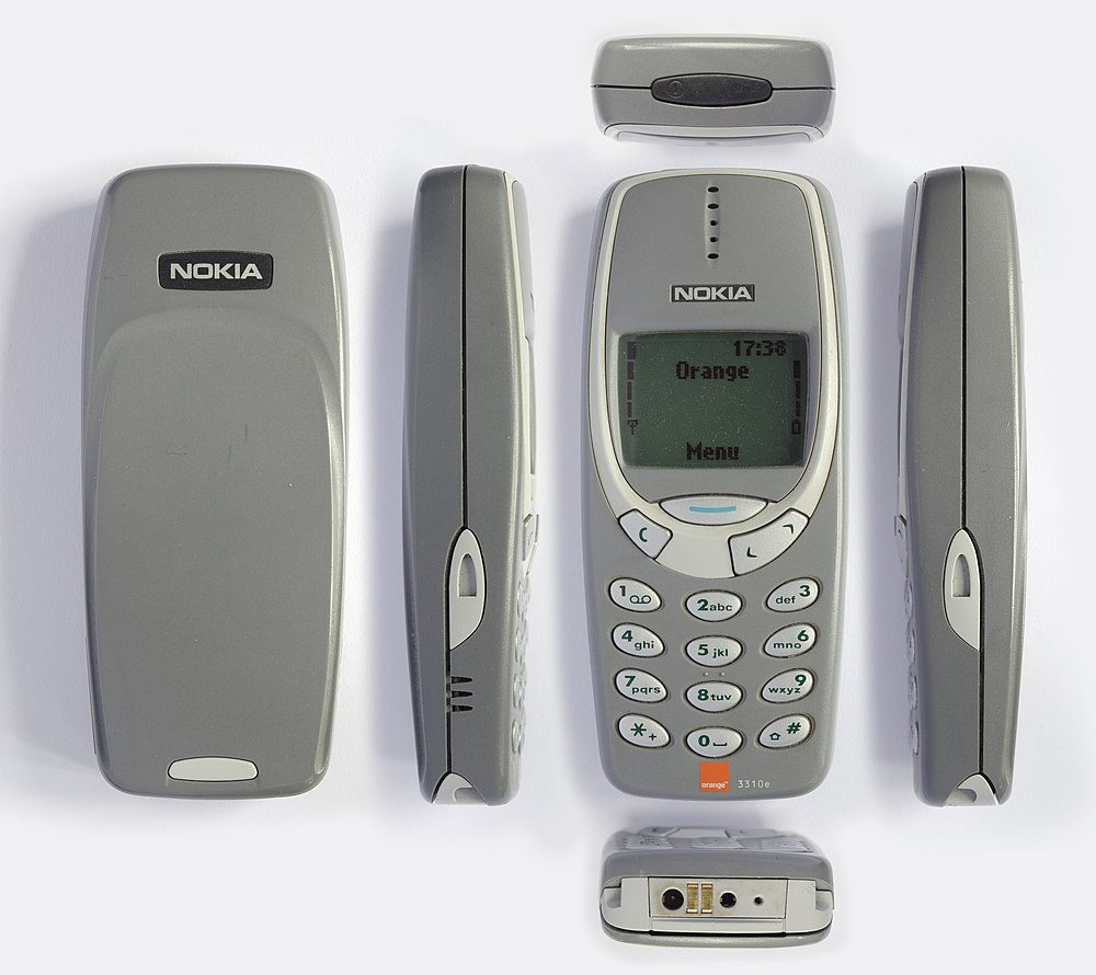 Nokia 3310 Eanswers Casing 2630 A Grey Orange Branded Seen From Multiple Angles