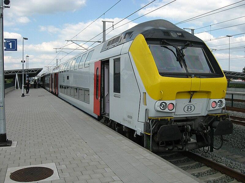Trem do aeroporto ao centro de Bruxelas