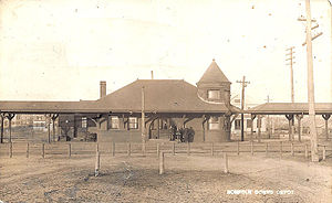 North Quincy (MBTA station) - Norfolk Downs station on a 1912 postcard