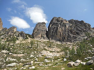 Early Winters Spires - The two spires (north on the left)