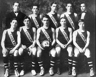 North Carolina Tar Heels men's basketball - Coach Nathaniel Cartmell and the 1910–11 men's basketball team