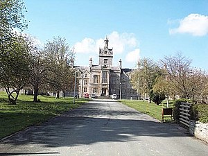 North Wales Hospital - The North Wales Hospital building in 1994