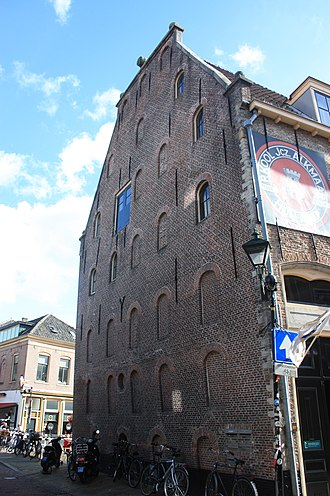 Alkmaar - North gable of the Beer Museum in Alkmaar