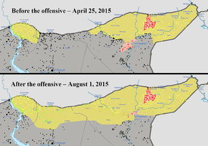 Map of the territory changes during the YPG-led Northern Syria ...