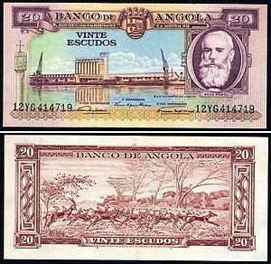 António da Silva Porto - Angolan escudo note depicting António Silva Porto.