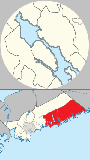 Eastern Shore (Nova Scotia) - A map of east and west Eastern Shore planning areas in Halifax, Nova Scotia