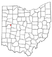 Location of Jackson Center, Ohio