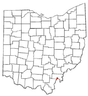 Pomeroy, Ohio - Image: OH Map doton Pomeroy