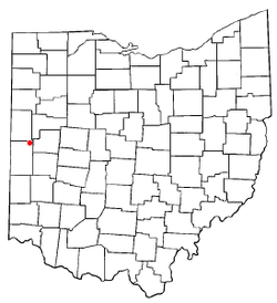 Location of Yorkshire, Ohio