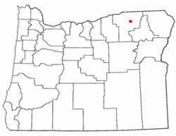 Location of Cayuse, Oregon