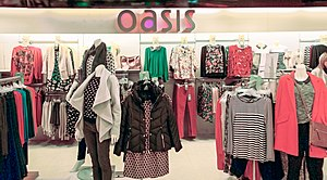 Mosaic Fashions - Oasis concession in Debenhams, Sutton, Greater London