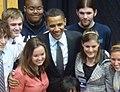Obama 2018 Rally Cincinnati with students.jpg