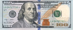 World currency - Image: Obverse of the series 2009 $100 Federal Reserve Note