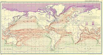Ocean - Oceanic surface currents (U.S. Army, 1943).